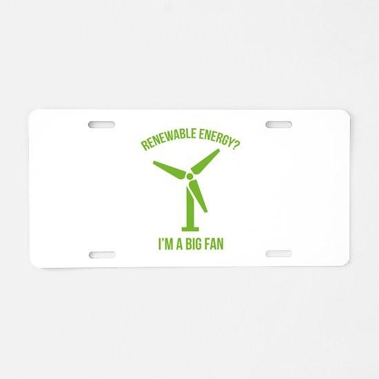 Renewable Energy Aluminum License Plate