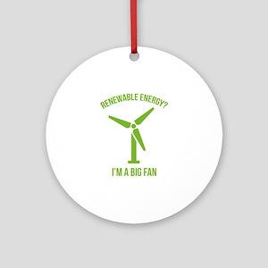 Renewable Energy Ornament (Round)