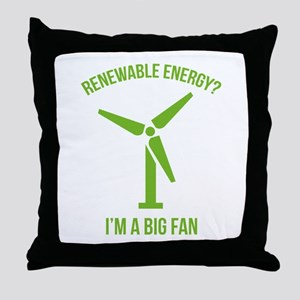 Renewable Energy Throw Pillow