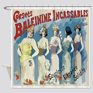 Vintage French Corsets Shower Curtain