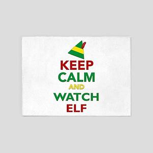 Keep Calm Elf Movie Original 5'x7'Area Rug