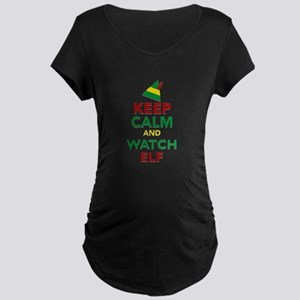 Keep Calm Elf Movie Origina Maternity Dark T-Shirt