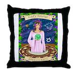 Lady Taurus Throw Pillow