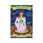 Lady Taurus Rectangle Magnet