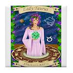 Lady Taurus Tile Coaster
