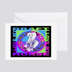 Graphically Equine Draft Horse Greeting Card