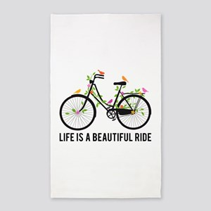 Life is a beautiful ride 3'x5' Area Rug