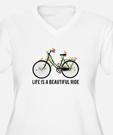 Life is a beautiful ride Plus Size T-Shirt