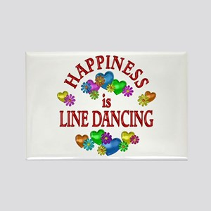 Happiness is Line Dancing Rectangle Magnet