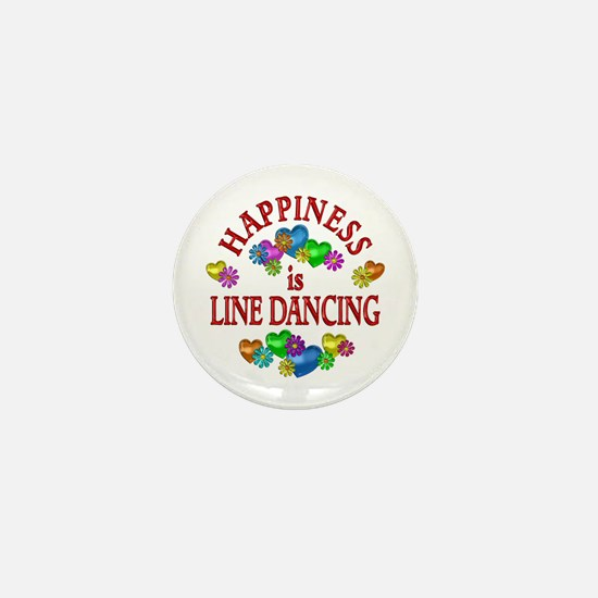 Happiness is Line Dancing Mini Button (10 pack)