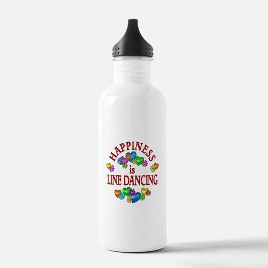 Happiness is Line Danc Water Bottle
