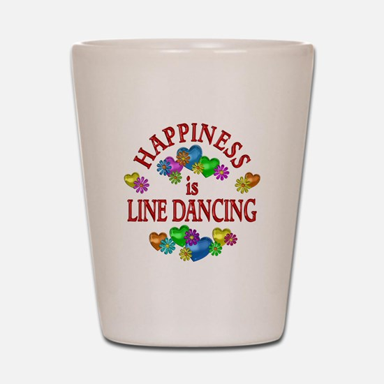 Happiness is Line Dancing Shot Glass