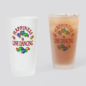 Happiness is Line Dancing Drinking Glass