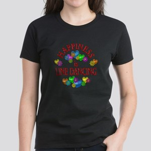 Happiness is Line Dancing Women's Dark T-Shirt