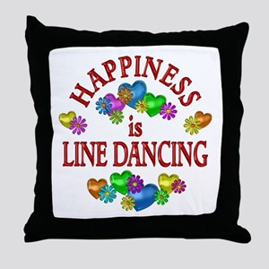 Happiness is Line Dancing Throw Pillow