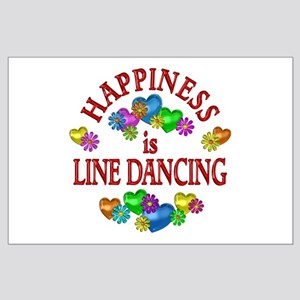 Happiness is Line Dancing Large Poster