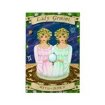 Lady Gemini Rectangle Magnet (10 pack)