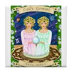 Lady Gemini Tile Coaster