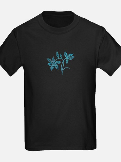 Blue Batik Flower T