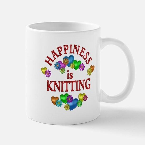 Happiness is Knitting Mug