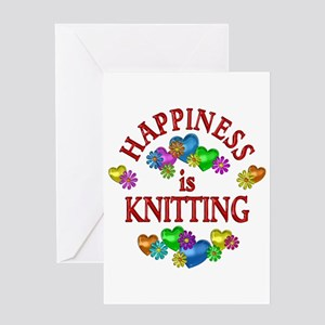 Happiness is Knitting Greeting Card