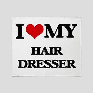 I love my Hair Dresser Throw Blanket