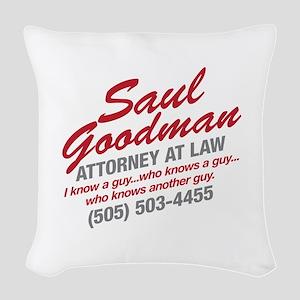 Breaking Bad - Saul Goodman Woven Throw Pillow