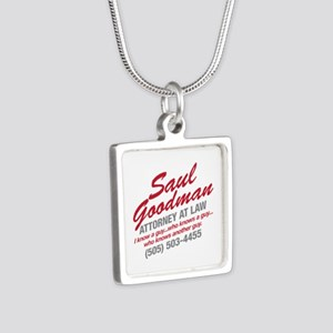 Breaking Bad - Saul Goodma Silver Square Necklace