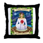 Lady Cancer Throw Pillow