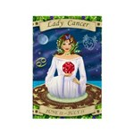 Lady Cancer Rectangle Magnet