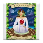 Lady Cancer Tile Coaster