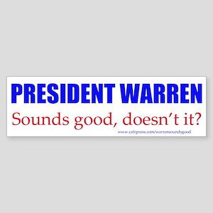 Warren Sounds Good Bumper Sticker