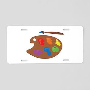 Paint Palette Aluminum License Plate