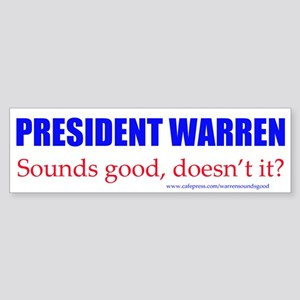 Warren Sounds Good Bumper Sticker