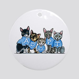 Adopt Shelter Cats Ornament (Round)