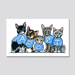 Adopt Shelter Cats Car Magnet 20 x 12