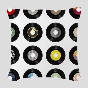 Records Woven Throw Pillow