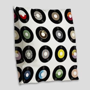 Records Burlap Throw Pillow