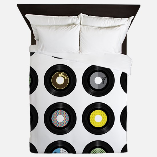 Records Queen Duvet