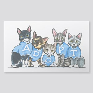 Adopt Shelter Cats Sticker