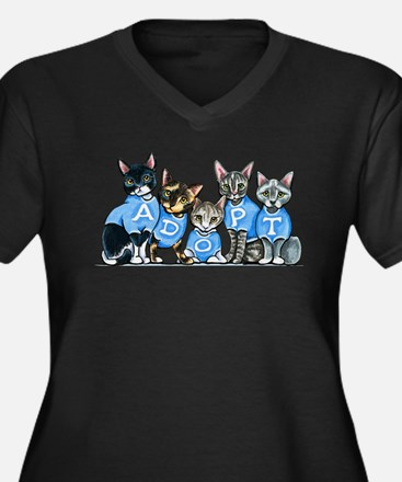 Adopt Shelter Cats Plus Size T-Shirt