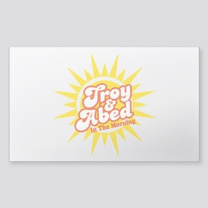 Troy and Abed In The Morning Sticker (Rectangle)
