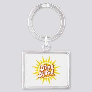 Troy and Abed In The Morning Landscape Keychain