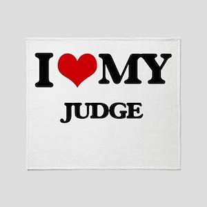 I love my Judge Throw Blanket