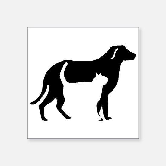 Cat And Dog Silhouette Sticker