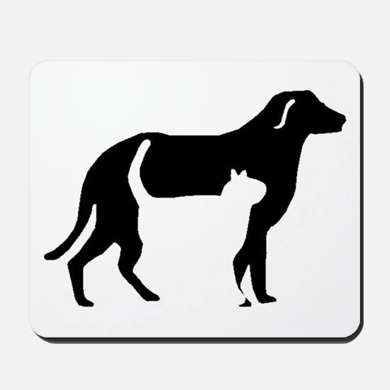 Cat And Dog Silhouette Mousepad