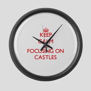 Castles Large Wall Clock