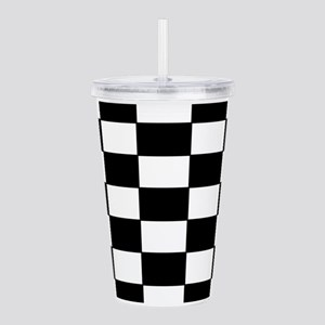 Checkered Pattern Acrylic Double-wall Tumbler
