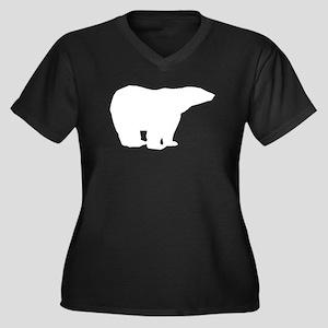 Polar Bear Silhouette Plus Size T-Shirt