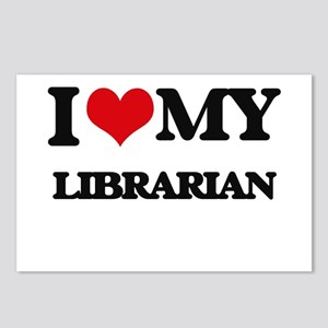 I love my Librarian Postcards (Package of 8)